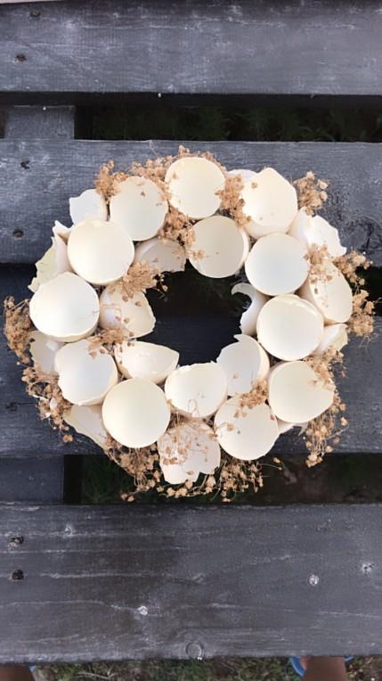 Yumurta qabığı ilə mətbəx üçün dekor